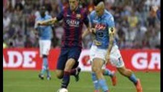 Napoli - Vittoria di lusso contro il Barcellona, parlano i tifosi azzurri (07.08.14)