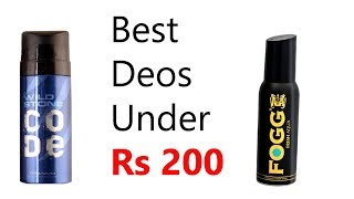 Best Deos Under Rs 200 in India Long Lasting Best Fragrance Deodrants