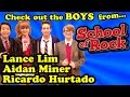 The BOYS from SCHOOL OF ROCK - ON SET Visit with Ricardo Hurtado, Lance Lim and Aidan Miner!