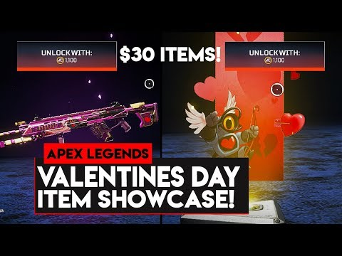 Apex Legends: NEW VALENTINES DAYS ITEMS SHOWCASE! $30 ITEMS! Mp3
