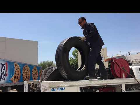 How to Replace Semi Truck Tires Under 30 Mins.