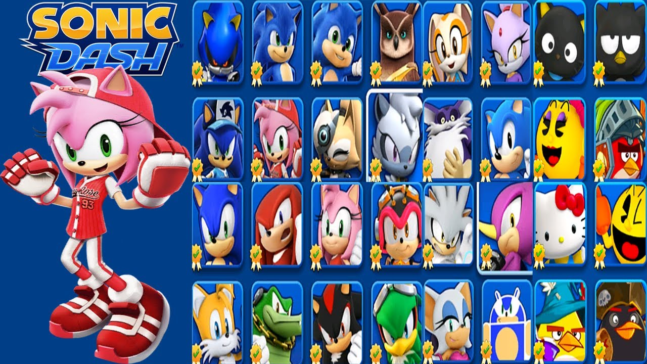 Sonic Dash - All Star Amy vs All Bosses - All 26 Characters Unlocked - Hack Unlimited Rings Mod