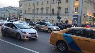 Москва после победы Сборной России над Испанией #4