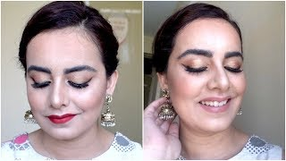 Indian Festival - Diwali, Karwa Chauth Makeup with 2 Lip Options