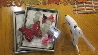 Diy Butterfly Frame And Butterfly Wall Decor