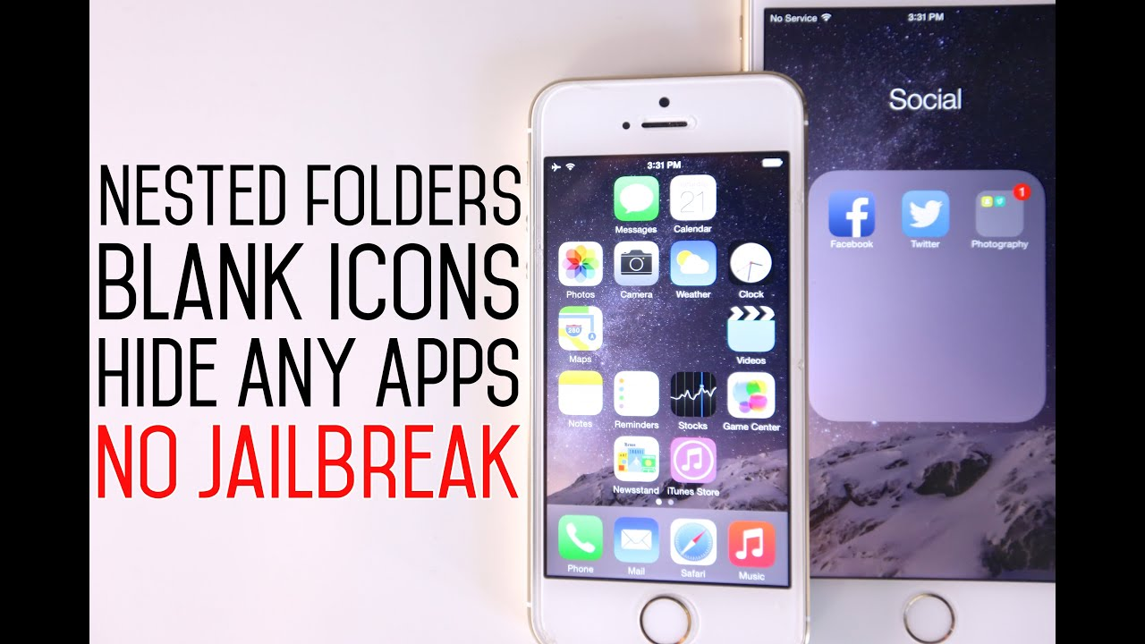 hidden folder iphone how to create nested folders blank icons amp hide stock 6990