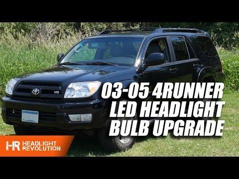 The Best 2003-2005 Toyota 4Runner LED Headlight Bulb Upgrade