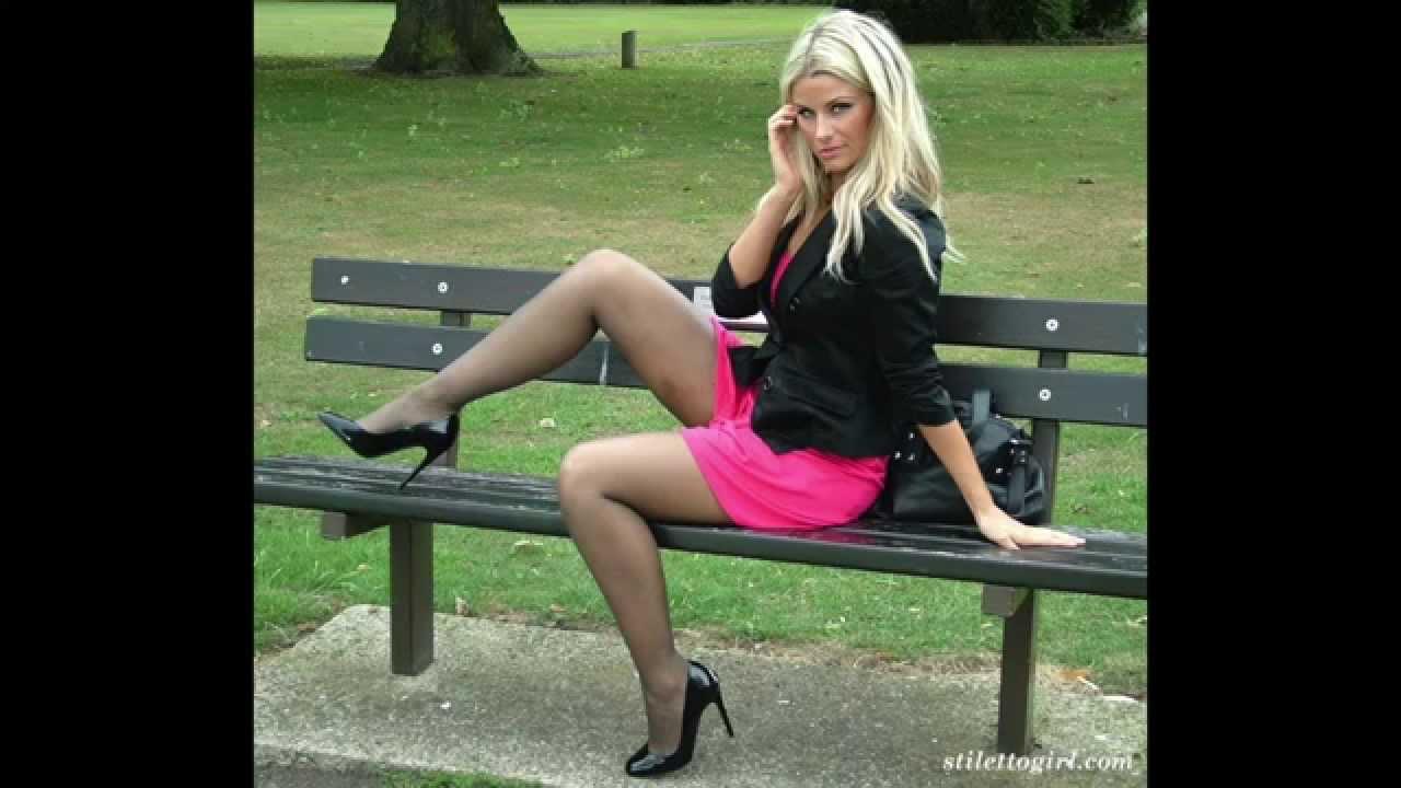 Against. Stiletto girls legs