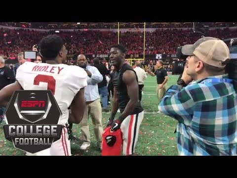 Download Youtube: Brothers Calvin and Riley Ridley meet after Alabama beats Georgia in national title game | ESPN
