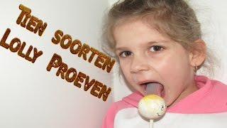 10 soorten Lolly's proeven!!!
