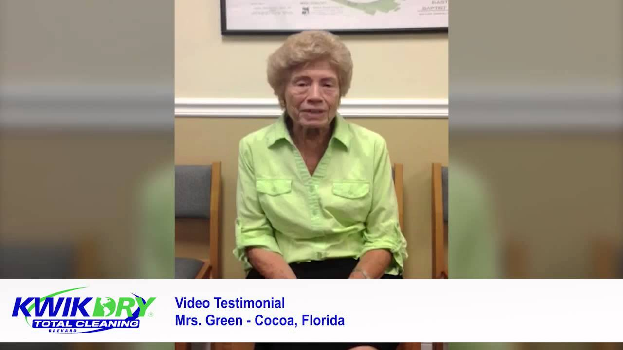 Mrs Green - Victim of Scam Artist Carpet Cleaners is Saved by Brevard Kwik Dry Carpet Cleaners