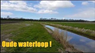 Oude waterloop in de Vroonermeer nabij de Vroonermeerweg in Sint Pancras