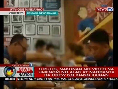 3 pulis sa Davao City, nakunang nag-iinuman sa restaurant