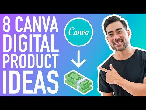 8 CANVA DIGITAL PRODUCT IDEAS TO SELL ONLINE // How To Create Digital Products Using Canva