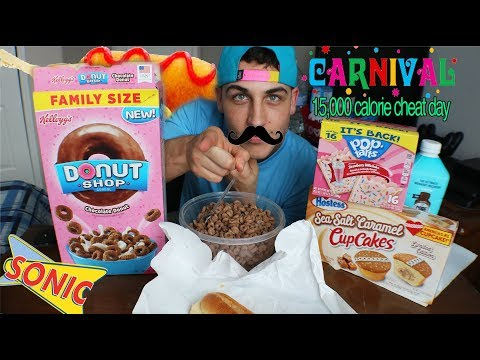 """15,000 CALORIE CHEAT DAY """"CARNIVAL FOOD CHALLENGE"""""""