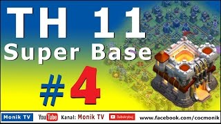Monik TV Clash of Clans - TH11 Super Base #4 to WAR and to FARM + 5 DEFENSE!!!