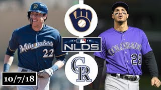 Milwaukee Brewers vs Colorado Rockies Highlights || NLDS Game 3 || October 7, 2018
