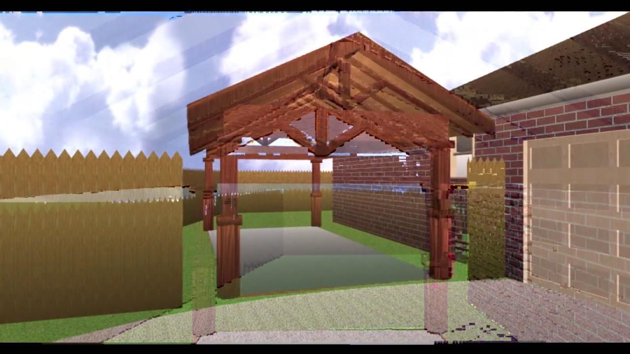 Car porch 3d youtube for Car porch design in kerala
