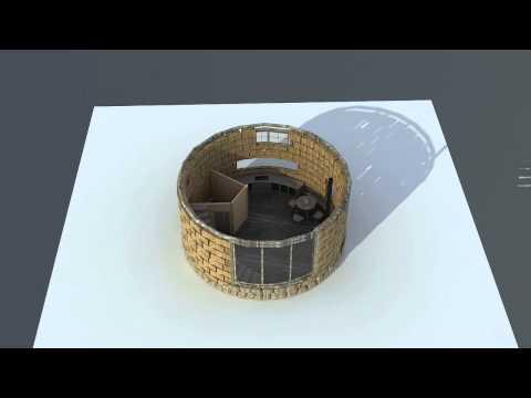 Round Mud House 3d Model