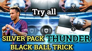 Silver pack thunder black ball trick | don't miss it | pes 2019 mobile