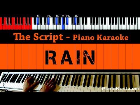 The Script - Rain - HIGHER Key (Piano Karaoke / Sing Along)