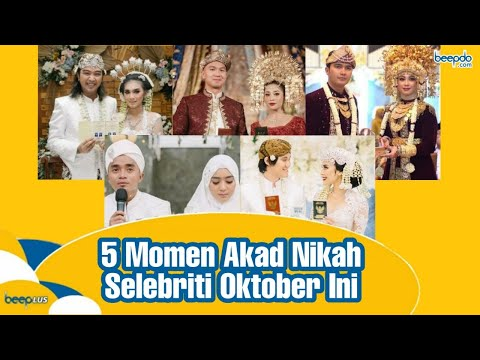 5 Momen Akad Nikah Selebriti Oktober Ini: Sakral, Khidmat, dan Menjunjung Nilai Budaya #BEEPLUS