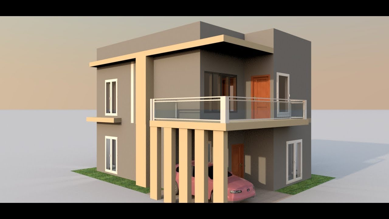 30x40 small house modeling in sweet home 3d youtube for Home 3d