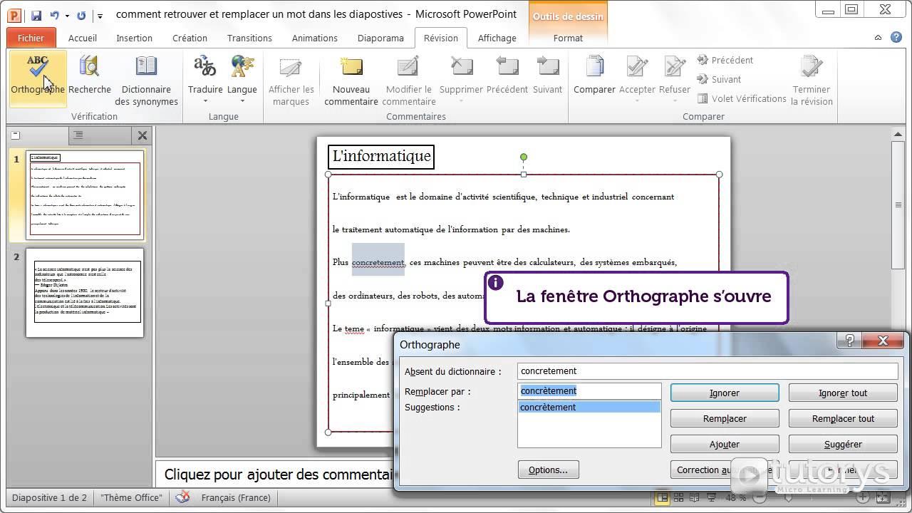 Comment utiliser le correcteur d 39 orthographe avec powerpoint 2010 youtube - Comment utiliser le purin d ortie ...