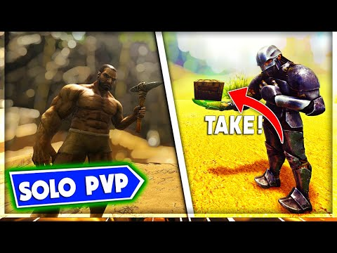 ATTACKING A PLAYER That Was So NICE He Gave Me STUFF - Solo PVP | ARK: Survival Evolved - EP. 3