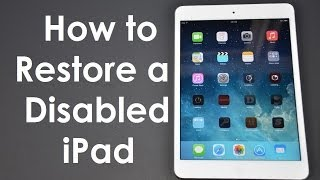 How to Fix (Forgot Passcode) Disabled iPhone / iPad iOS 12 iOS 11 iOS 10 iOS9 thumbnail