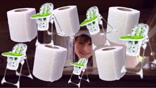 HUGE TOILET PAPER FORT!!! WITH BABY STROLLERS?!