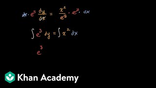 Example of separable differential equation