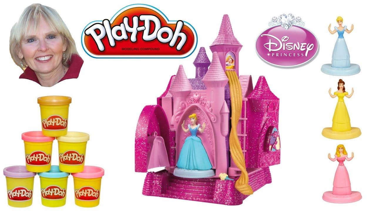 Play Doh Disney Prettiest Princess Castle Youtube