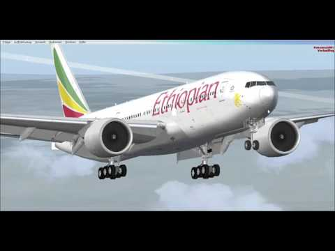 B777 Approach and Land at NAIROBI after going MISSED