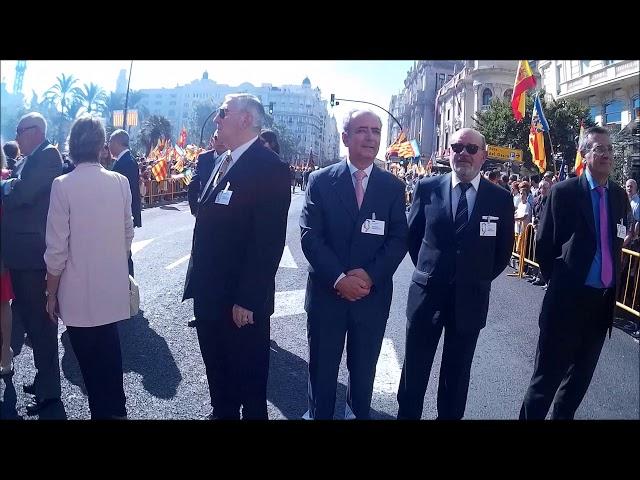 El Ateneo Mercantil desfila en la Procesión Cívica 2017