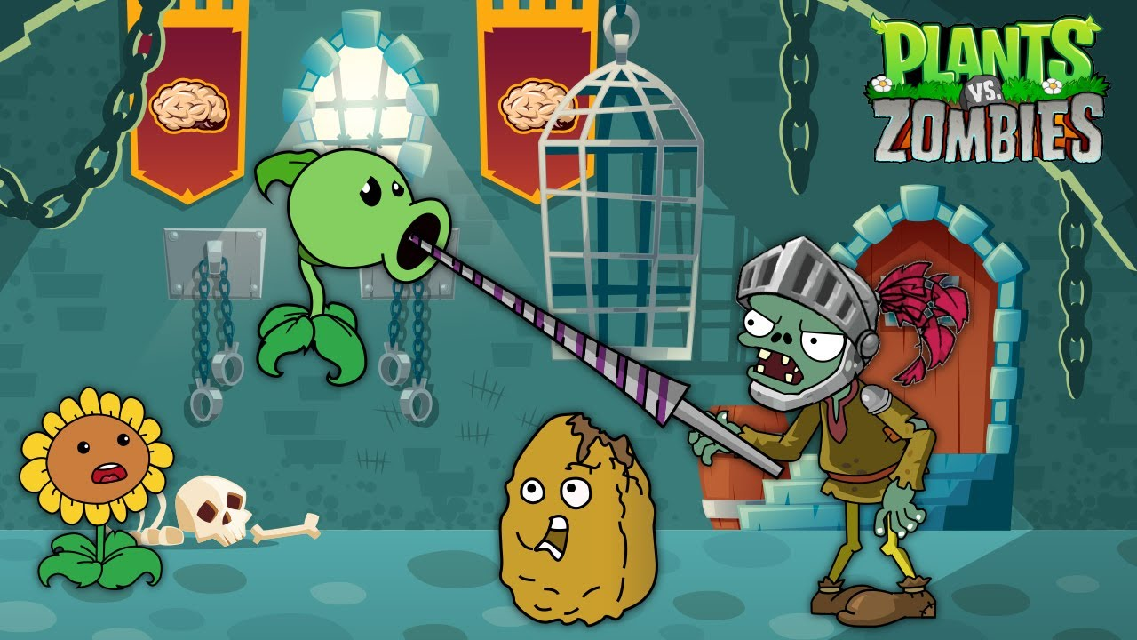 PLANTS VS ZOMBIES HEROES - Peashooter Level 100, Melon Pult Level 9999 vs KNIGHT ZOMBIE HEROES