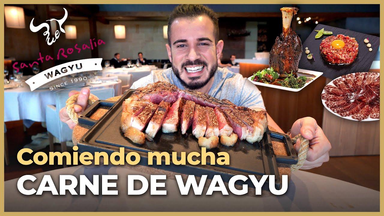 Probando MENÚ GIGANTE 100% WAGYU en BURGOS + GRAN SORTEO!!