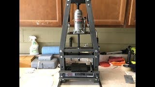 Harbor Freight 6 Ton Arbor Press Assembly and Review