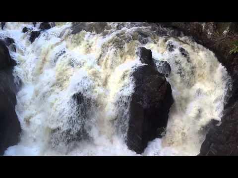 Autumn Black Linn Waterfall Braan Highland Perthshire Scotland