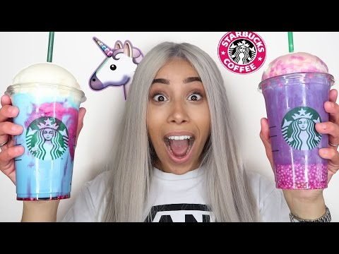 Thumbnail: DIY STARBUCKS UNICORN FRAPPUCCINO TASTE TEST!! 🦄 LIMITED EDITION