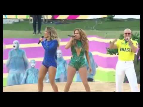 FIFA World Cup 2014 Opening Ceremony Pitbull & Jennifer Lopez   BRAZIL