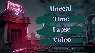 What 260 Hours of 3D Work Can Produce. The Neon Graveyard - Unreal Engine 4 Time-lapse.
