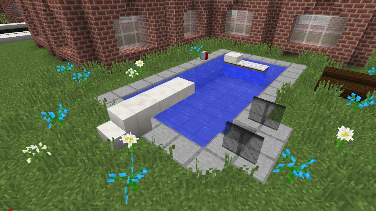 comment faire une piscine minecraft youtube. Black Bedroom Furniture Sets. Home Design Ideas