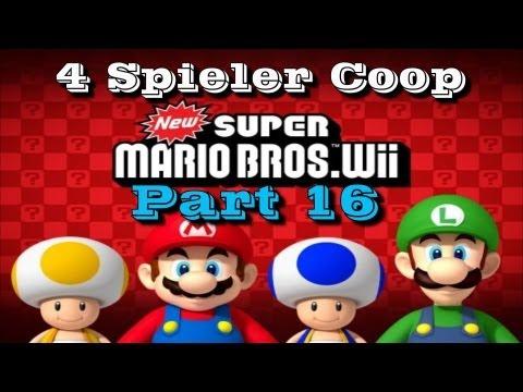 New Super Mario Bros  Wii Part 16 - Geschlossene Anstalt /4-Spieler/