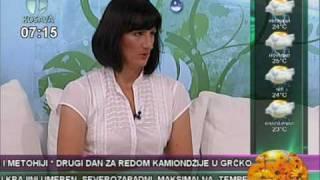 JOGA - Mediji o nama JOGA SAVEZ SRBIJE, Sert.instr. Bosiljka Janjusevic, TV Kosava, 28.juli 2010