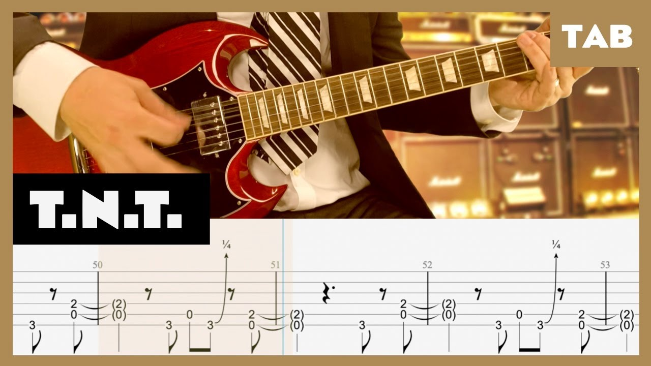 T.N.T. AC/DC Cover   Guitar Tab   Lesson   Tutorial