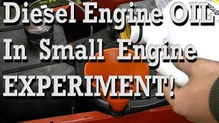 Diesel Engine OIL In Small Engines Experiment Test
