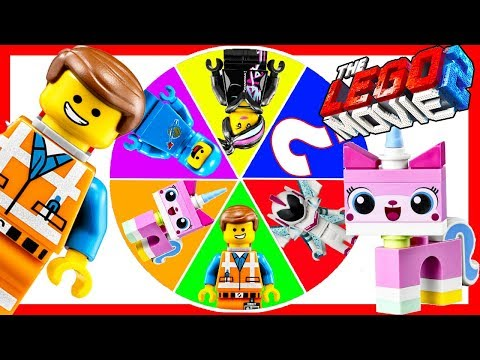 THE LEGO MOVIE 2 GAME  - Spin the Wheel with Emmet, Unikitty Happy Meal Toys at McDonalds