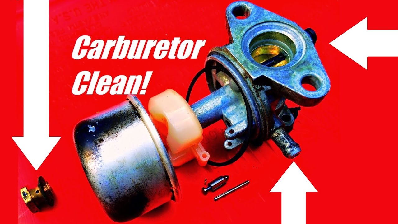 How To Fix A Lawn Mower By Cleaning The Carburetor Youtube Kubota Engine Diagram
