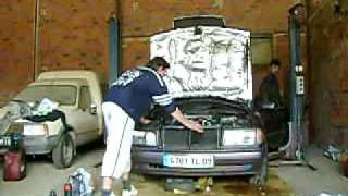 mercedes 190 turbo diesel demarage moteur apres 14 ans au garage